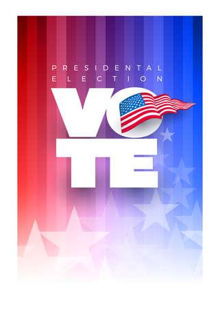 Presidental election concept design template. Vote 2020 in USA. Typographic vector design. USA debate of president voting. Election voting design. Political election campaign.