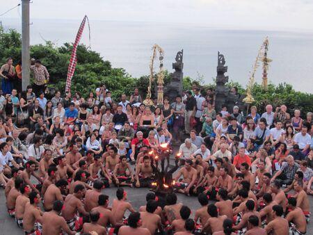kecak: Kecak dance in Bali Stock Photo