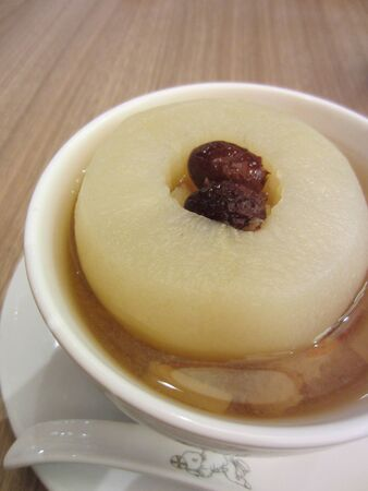 asian pear: Oriental sweet pear soup dessert