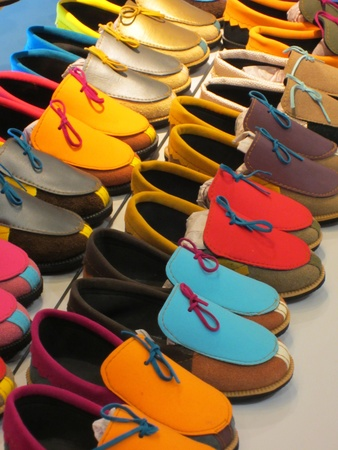moccasins: Colorful moccasins