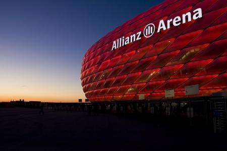 munich: allianz arena sunset Editorial