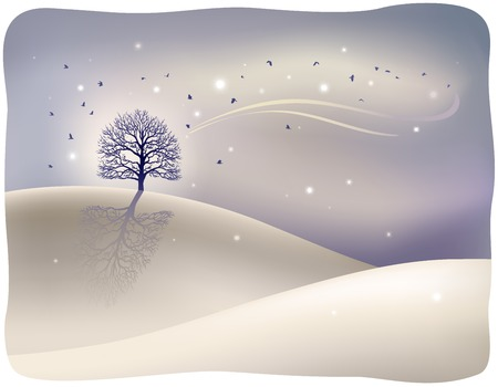 winter scene: Winter scene Illustration
