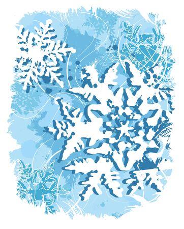 Snowflake card 2  Vector