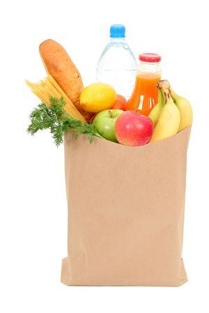 apple paper bag: Grocery bag