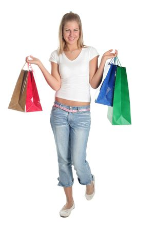 Girl with shopping bags Stock Photo - 391433