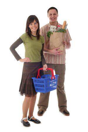deliverer: Couple shopping Stock Photo