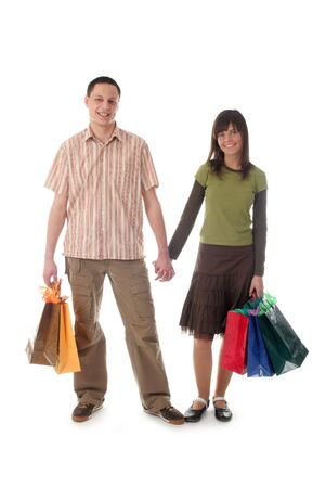 Couple with shopping bags Stock Photo - 391358
