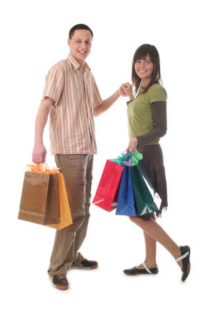Couple with shopping bags Stock Photo - 391354