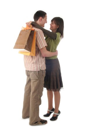 Couple with shopping bags Stock Photo - 391337