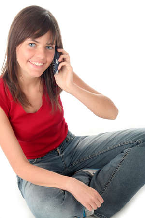Girl using a mobile phone Stock Photo - 414570