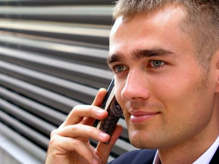 Businessman using a mobile phone Stock Photo - 469243