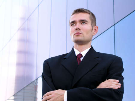 Businessman With His Arms Crossed photo