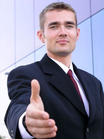 Businessman Ready to Shake Hands photo