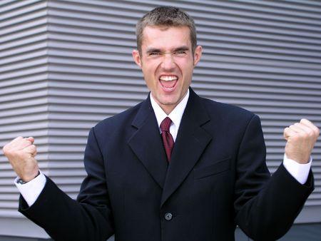 Victorious Businessman photo