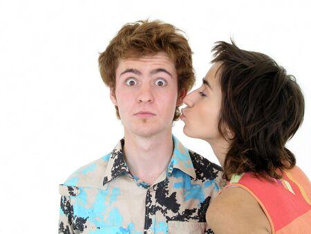 Kiss On the Cheek Stock Photo - 469106