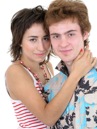 Smiling Young Couple Hugging photo