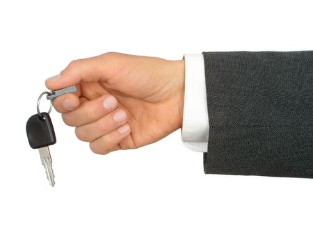 Businessman's Hand Holding Car Key Stock Photo - 471910