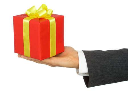 Hand Holding Gift photo