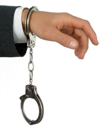 Businessman Wearing Handcuffs photo