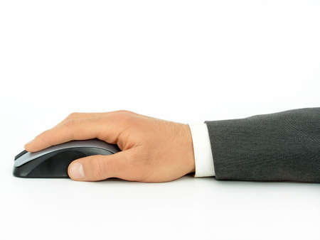 Hand on Computer Mouse Stock Photo - 471878