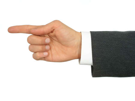 Businessman's Hand Pointing Finger Stock Photo - 471871