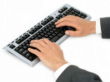 Hands On Computer Keyboard Stock Photo - 471863