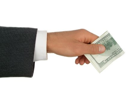 Businessman's Hand Holding Money Stock Photo - 471836