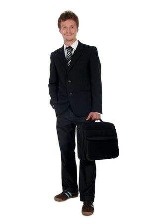 Young Businessman With Briefcase Stock Photo - 489279