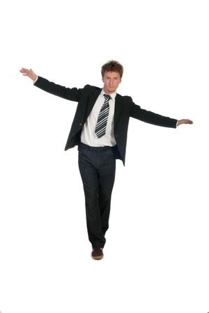 Balancing Businessman Stock Photo - 489280