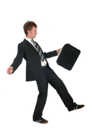 Balancing Businessman Stock Photo - 489286