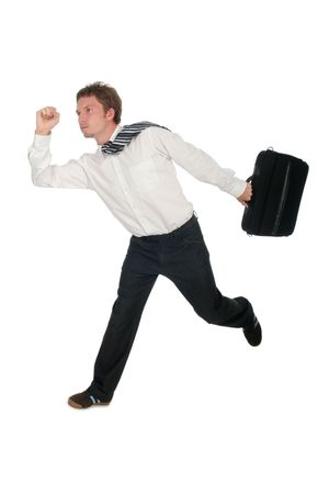 Businessman Running Stock Photo - 489275