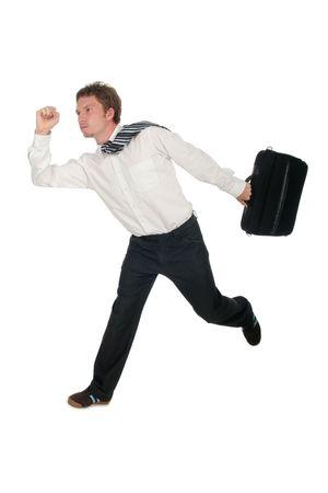 Businessman Running Stock Photo - 489275