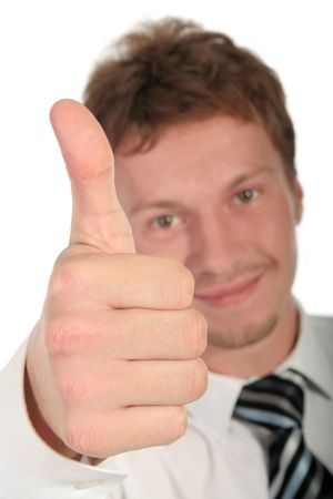 Businessman With Thumb Up Stock Photo - 489226