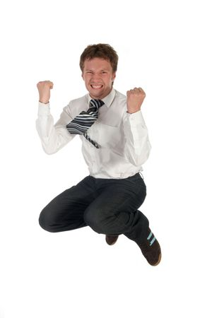 Businessman jumping Stock Photo - 489227