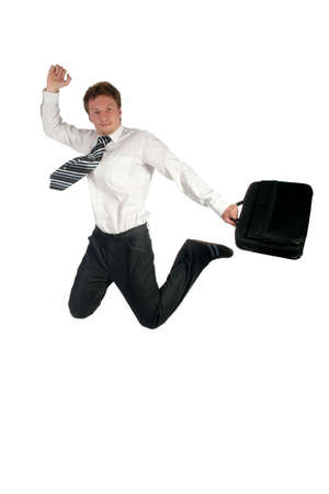 Businessman jumping Stock Photo - 489230