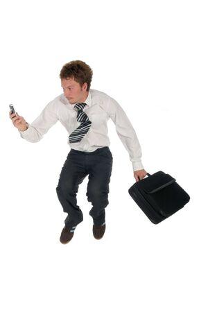 Businessman jumping Stock Photo - 489229