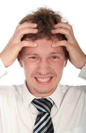 Worried businessman photo