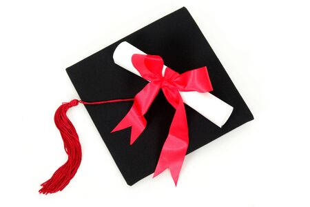 graduation caps: Graduation cap and diploma