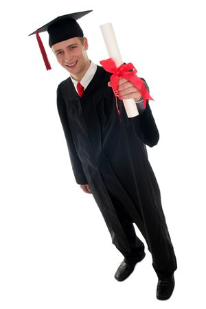 Male student graduating Stock Photo - 627477
