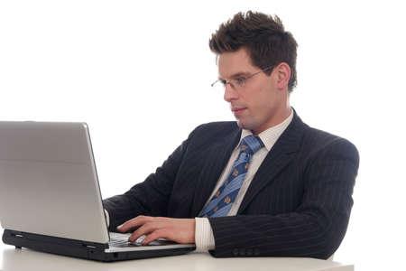 Businessman using laptop Stock Photo - 667690