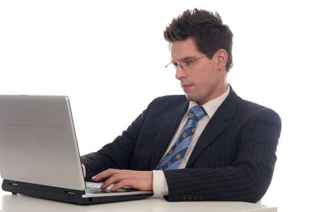 Businessman using laptop Stock Photo - 667690