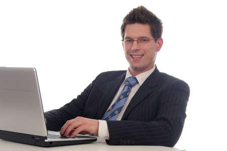 Businessman using laptop Stock Photo - 667687