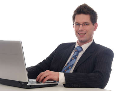 Businessman using laptop Stock Photo - 667687
