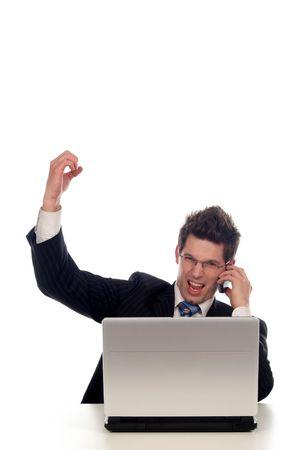 Businessman using laptop Stock Photo - 667688