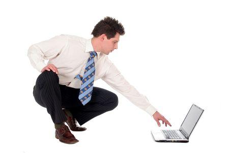 Businessman using laptop Stock Photo - 667685