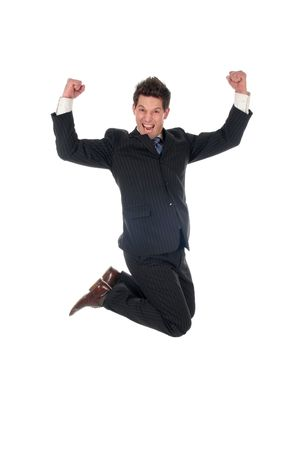 Businessman jumping Stock Photo - 667678