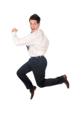 haste: Businessman Running Stock Photo