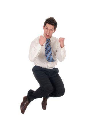 Businessman jumping Stock Photo - 667673