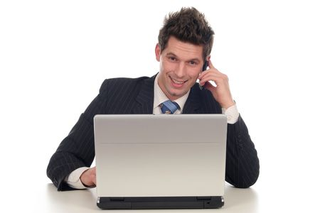Businessman using laptop Stock Photo - 667668