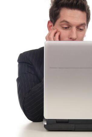 Businessman using laptop Stock Photo - 667669